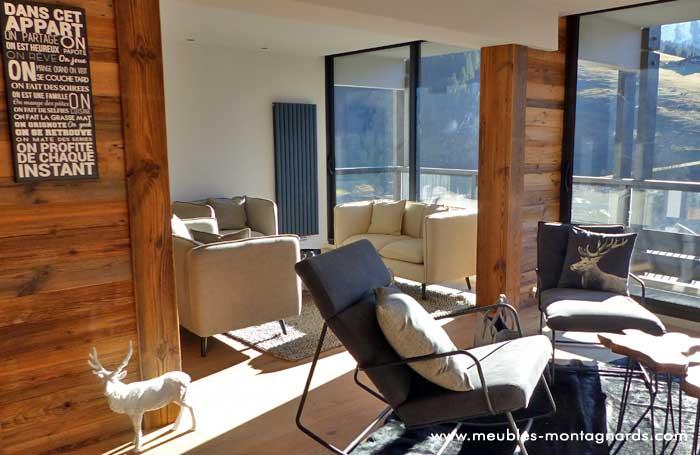 Ameublement De Salon Style Montagne Coussins Lumininaires Objets Déco  Aménagement Intérieur Salon Chalet, Appartement