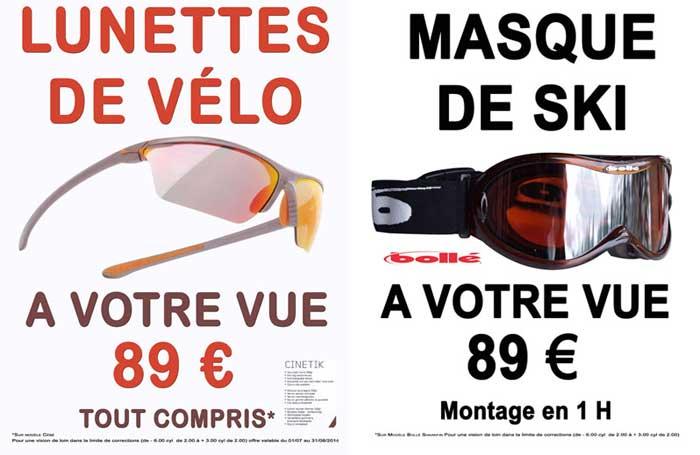 60aa1864aa4a2e Lunettes de sport à la vue et masque de ski opticien chalet de l optique